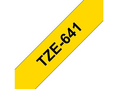 BROTHER Tape BROTHER TZe-641 18mmx8m sort/gul (TZE-641)