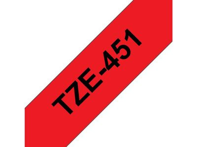 BROTHER 24MM Black  On Red Tape (TZE-451)