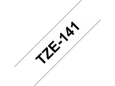 BROTHER P-Touch TZE-141 black on clear 18mm (TZE-141)