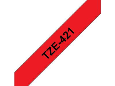 BROTHER 9MM Black On Red Tape (TZE-421)