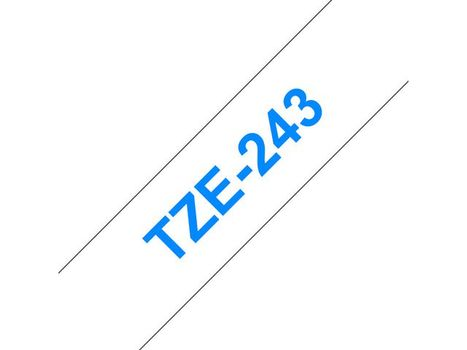 Brother 18MM Blue On White Tape (TZE-243)