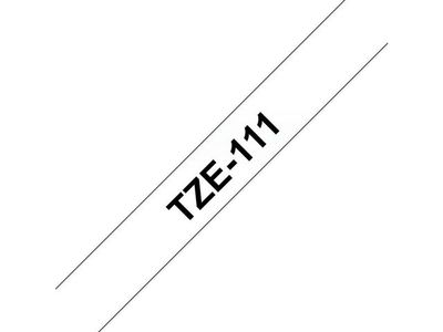 BROTHER 6MM Black On Clear Tape (TZE111)
