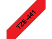 BROTHER TZ-tape / 18mm / Black Text / Red Tape (TZE441)