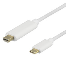 DELTACO USB C TO Mini DP 50cm white