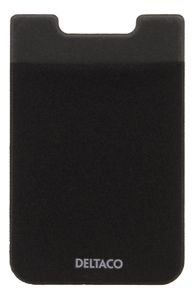 DELTACO Adhesive credit card holder, 3M adhesive, black (MCASE-CH001)