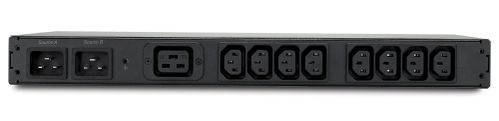 APC Rack ATS, 230V, 16A, C20 in, (8) C13 (1) C19 out (AP4423)