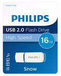 PHILIPS USB-Stick 16GB 2.0 USB Snow Edition blue (FM16FD70B/00)