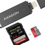 AXAGON External USB 3.1 Type-C SLIM 2-slot SD/ Factory Sealed (CRE-S2C)