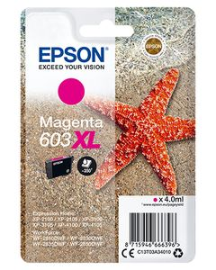 EPSON Singlepack Magenta 603XL Ink (C13T03A34010)