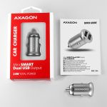 AXAGON Car Charger Smart 5V 2.4A + 2.4A. 24W Factory Sealed (PWC-5V4)