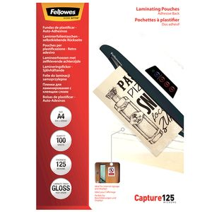 FELLOWES Matt laminating pouches 125 micron, A4  100-pack (5328502)
