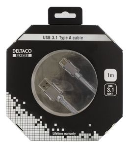 DELTACO USB 3.0 AM to CM 1m Space Gray (USBC-1258)
