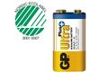 GP Batteri Ultra Plus 9 VOLT - 1-PK 1 stk 9 Volt Batteri, 1600mAh