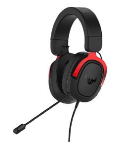 ASUS TUF H3 Gaming Headset for PC, MAC, PS4 - Red (90YH02AR-B1UA00)