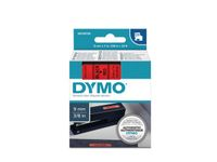 DYMO D1 Tape / 9mm x 7m / Black Text / Red Tape (S0720720)