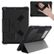 NUTKASE BumpKase for iPad 5th/6th Gen with Shoulder Strap - Black, Protective iPad case with a front cover that triangulates into a stand, a handstrap on the back of the case and an ID card holder on the back