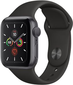 APPLE Watch Series 5 GPS 40mm Space Grey Aluminium Case with Black Sport Band (MWV82KS/A)