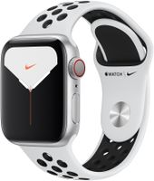 APPLE Watch Nike Series 5 GPS + Cellular 40mm Silver Aluminium Case with Pure Platinum/ Black Nike Sport Band - S/M & M/L