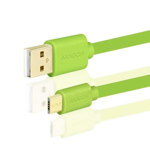 AXAGON HQ Cable Micro USB <-> USB A. Green. 0.5m Factory Sealed (BUMM-AM05QG)