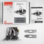 AXAGON PCI-Express Adapter 2x Serial Port + LP Factory Sealed (PCEA-S2)