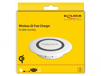 DELOCK Wireless Qi Fast Charger 7.5 W + 10 W for table mounting (65918)