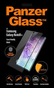 PanzerGlass Screen Protection Sort ramme, Case Friendly, for Note10+ (7200)