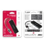 AXAGON Slim Hub 4x USB 3.0. With 14cm Type-A Cable Factory Sealed (HUE-G1A)