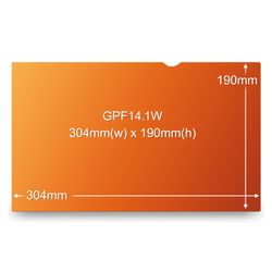 3M GOLD PRIVACY FILTER GPF14.1W 14.1in WIDE 16:10 (GPF14.1W)