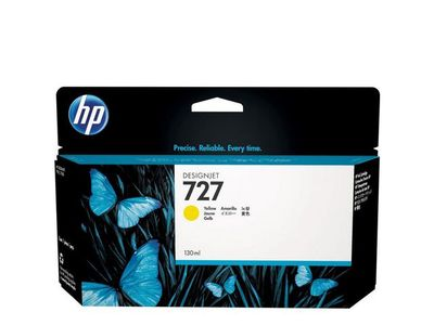 HP INK CARTRIDGE NO 727 YELLOW 300ML SUPL (F9J78A)