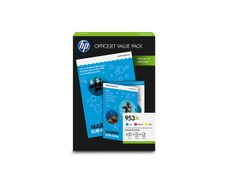 HP 953XL Office Value Pack, 953XL Ink CMY, 50 sheet AIO Paper, 25 sheet Prof. IJ Matte Paper 180g/m