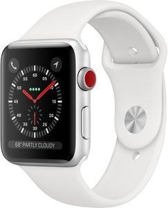 APPLE Watch Series 3 GPS + Cellular, 42mm Silver Aluminium Case with White Sport Band (MTH12MP/A)