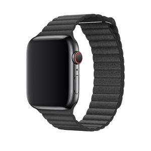 APPLE 44MM BLACK LEATHER LOOP LARGE . (MXAC2ZM/A)