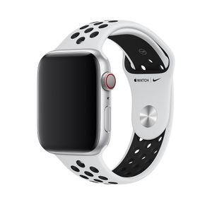 APPLE WATCH 44 PURE PLATINUM/ BLK NS-ZML (MX8F2ZM/A)