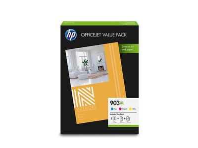 HP No903 XL CMY ink office value pack (1CC20AE)
