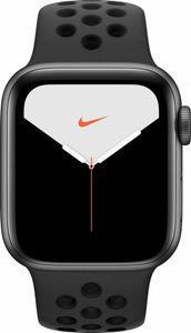 APPLE Watch S5 Nike LTE 40mm Aluminium Space Grau Sportarmband Anthrazit Schwarz (MX3D2FD/A)