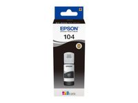 EPSON 104 ECOTANK BLACK INK BOTTLE 1 X 65MLBLACK SUPL (C13T00P140)