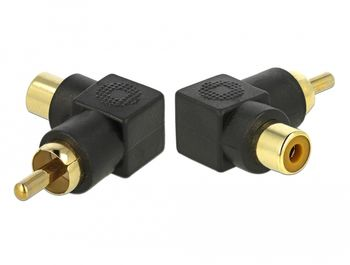 DELOCK RCA Adapter male to female angled (66168)
