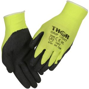 ABENA Fingerdyppet latexhandske,  THOR Light Grip, 9, polyester/ lycra/ bomuld/ latex,  ribkant (1000004092*12)
