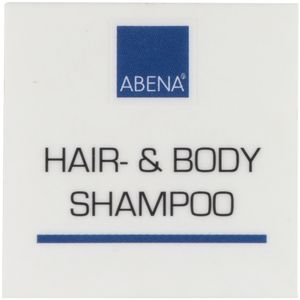 ABENA Label til dispenser,  4x4cm, blå, hair- & bodyshampoo (1000003889)