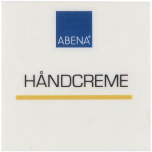 ABENA Label til dispenser,  4x4cm, blå, håndcreme (1000003892)
