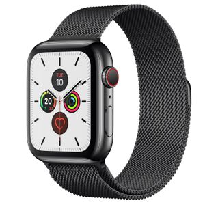 APPLE Watch S5 Cellul.Edelst.Mil 44mm bk | Milanaise Spaceblack MWWL2FD/A (MWWL2FD/A)