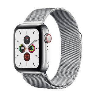 APPLE Watch Series 5 GPS + Cellular 40mm Stainless Steel Case with Stainless Steel Milanese Loop (MWX52KS/A)