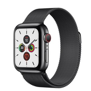 APPLE Watch Series 5 GPS + Cellular 40mm Space Black Stainless Steel Case with Space Black Milanese Loop (MWX92KS/A)