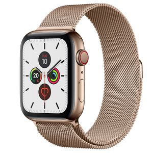 APPLE Watch Series 5 GPS + Cellular 44mm Gold Stainless Steel Case with Gold Milanese Loop (MWWJ2KS/A)