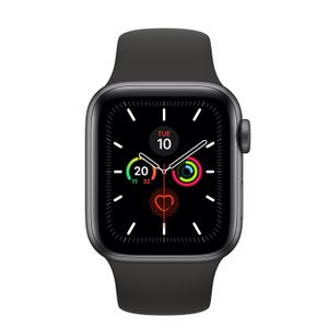 APPLE Watch Series 5 space grey aluminium  40mm 4G black sport band DE (MWX32FD/A)
