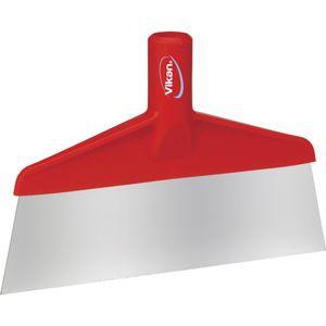 ABENA Gulvskraber,  Vikan, rød, PP/ rustfrit stål, 26 cm, med enkeltblad *Denne vare tages ikke retur* (169330)