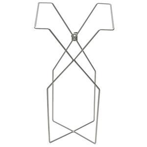 _ Poseholder,  Vikan ErgoClean Kompakt, 22, 7x29, 7x55, 8cm,  grå, metal *Denne vare tages ikke retur* (165236)