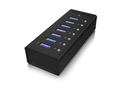 ICY BOX IB-AC618 USB Hub/Port 7x USB 3.0, 1x USB Charge, Aluminium, Incl 12V Power Adapter