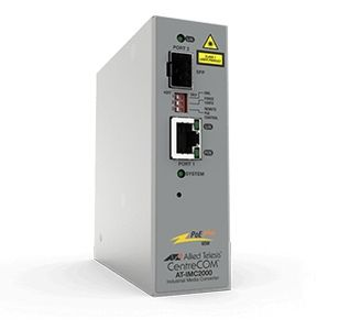 Allied Telesis TAA 10/ 100/ 1000T POE+ TO 100X/ 1000X SFP IND TEMP GB MEDIA CONV IN ACCS (AT-IMC2000TP/SP-980)