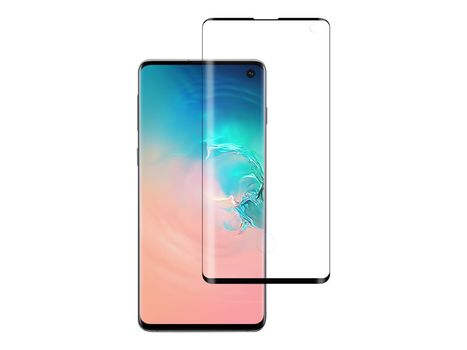 No Name skjermbeskyttelse for Samsung S10 Herdet glass, ramme, heldekkende, case friendly